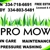 Pro mow lawn maintenance