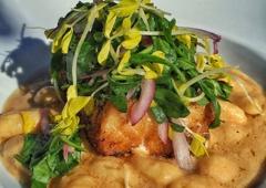 Nikki Beach Restaurant & Bar - Miami Beach, FL. Sea bass with the best gnocchi in the world!!!