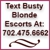 Busty Blonde Vegas Escorts