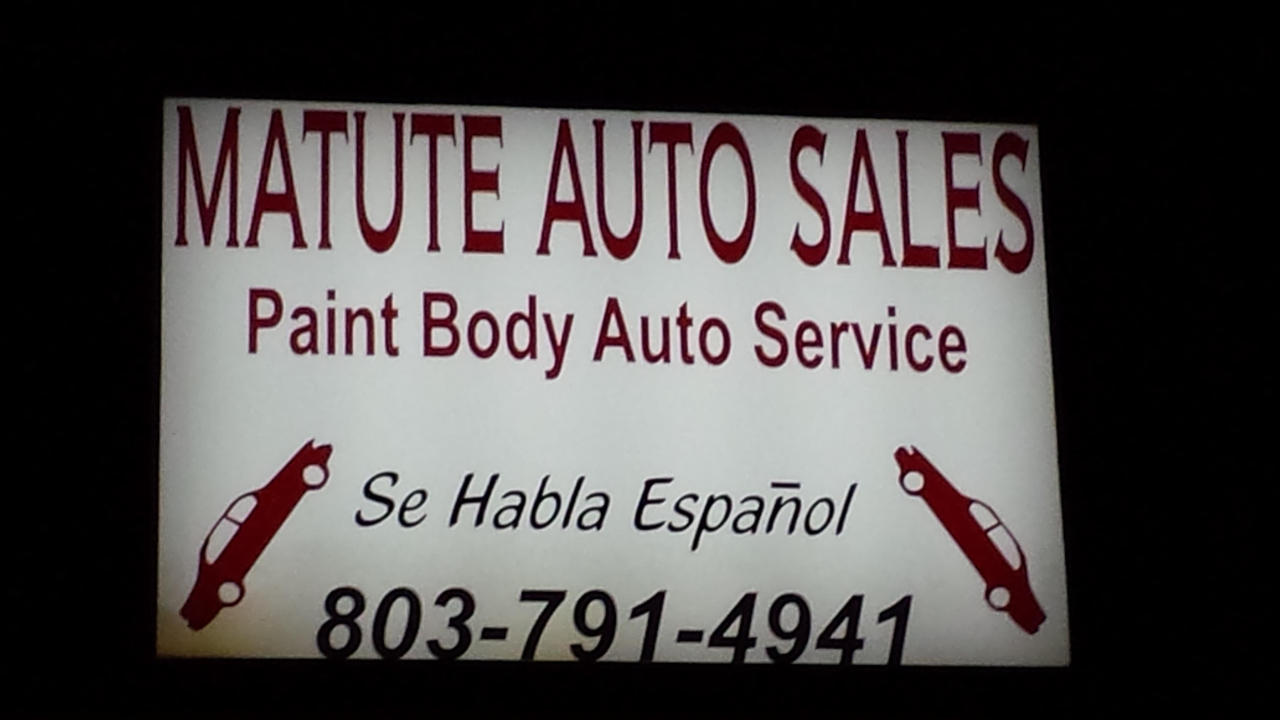Matute Auto Sales, Gaston SC