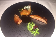 Lacquered squab breast