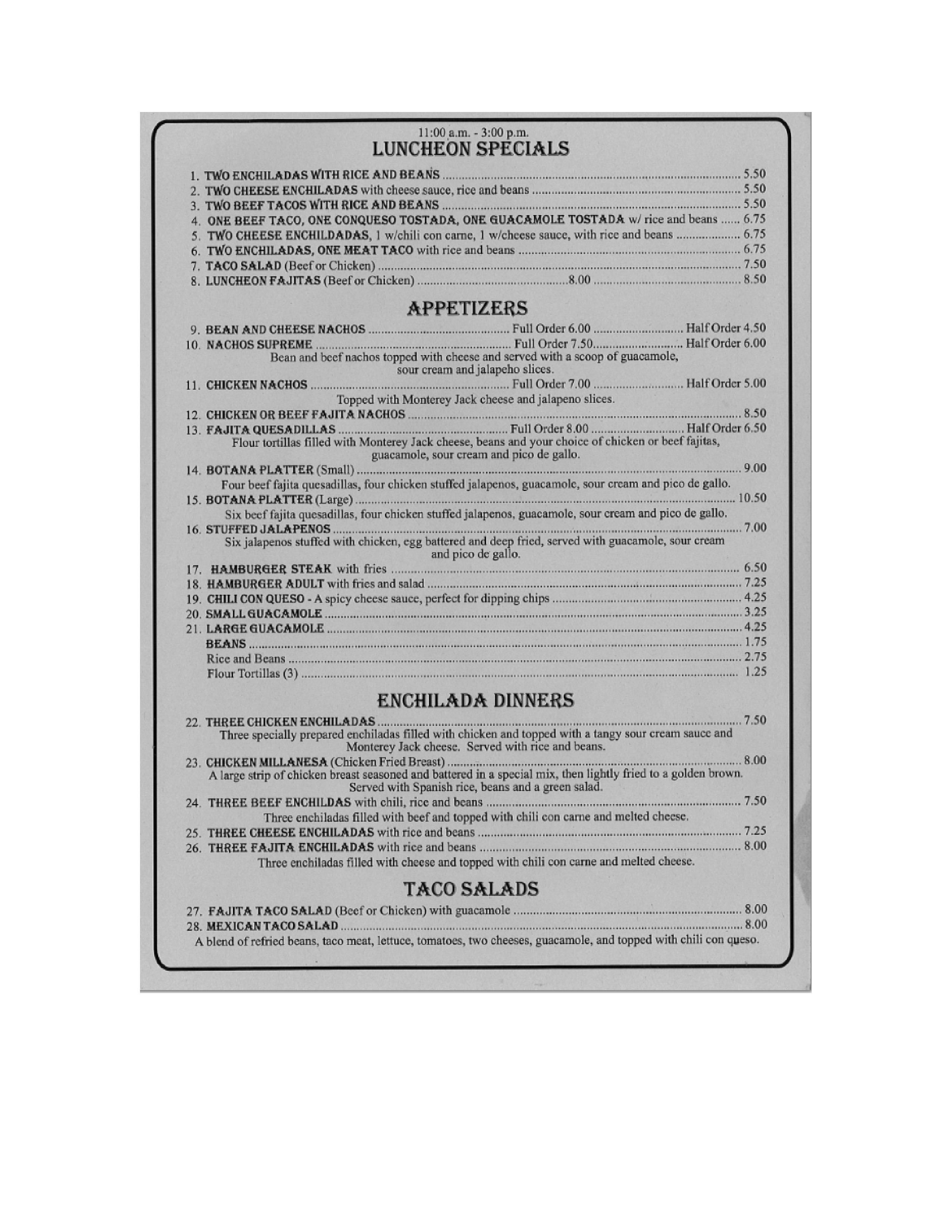 Las Cazvelas Mexican Restaurant, Green Forest AR