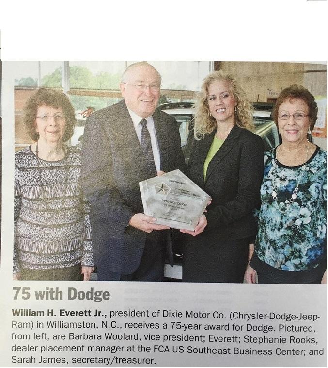 Dixie Motor Company, Williamston NC