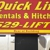 Quicklift Rentals & Hitches