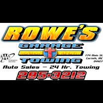 Rowe's Garage & Auto Sales, Corinth ME