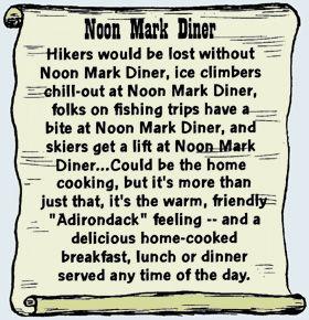 Noon Mark Diner, Keene Valley NY