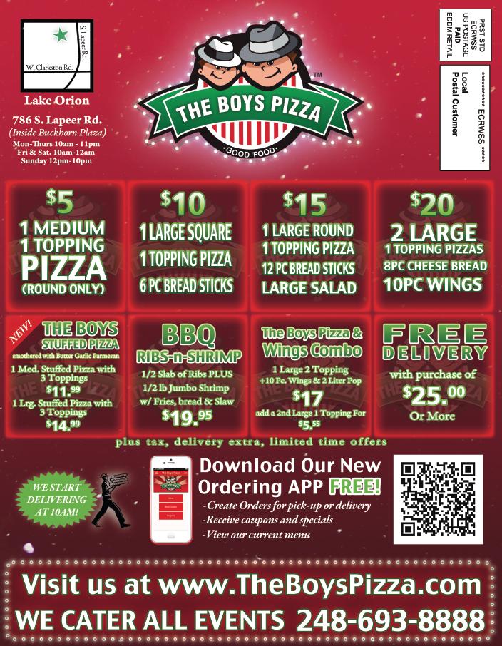 The Boys Pizza, Lake Orion MI