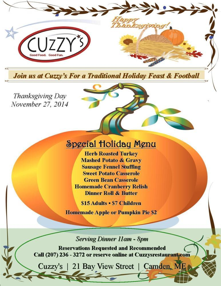 Cuzzy's, Camden ME