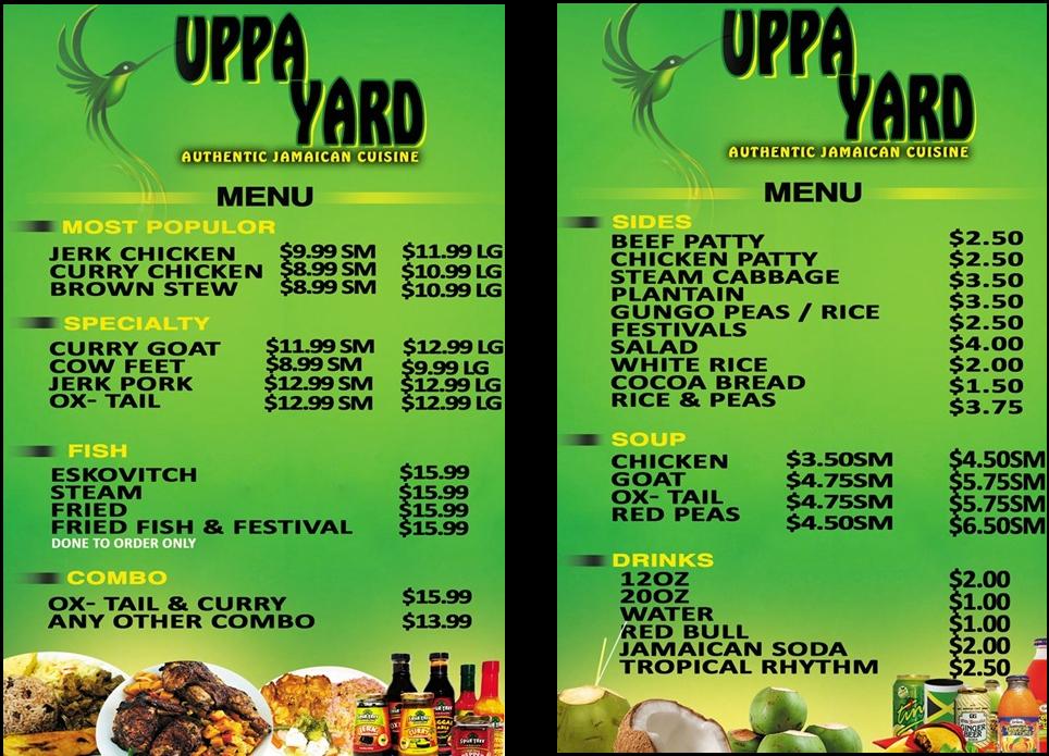 Used Tires Greensboro Nc >> Uppa Yard Authentic Jamaican Cuisine Milwaukee, WI 53216 ...