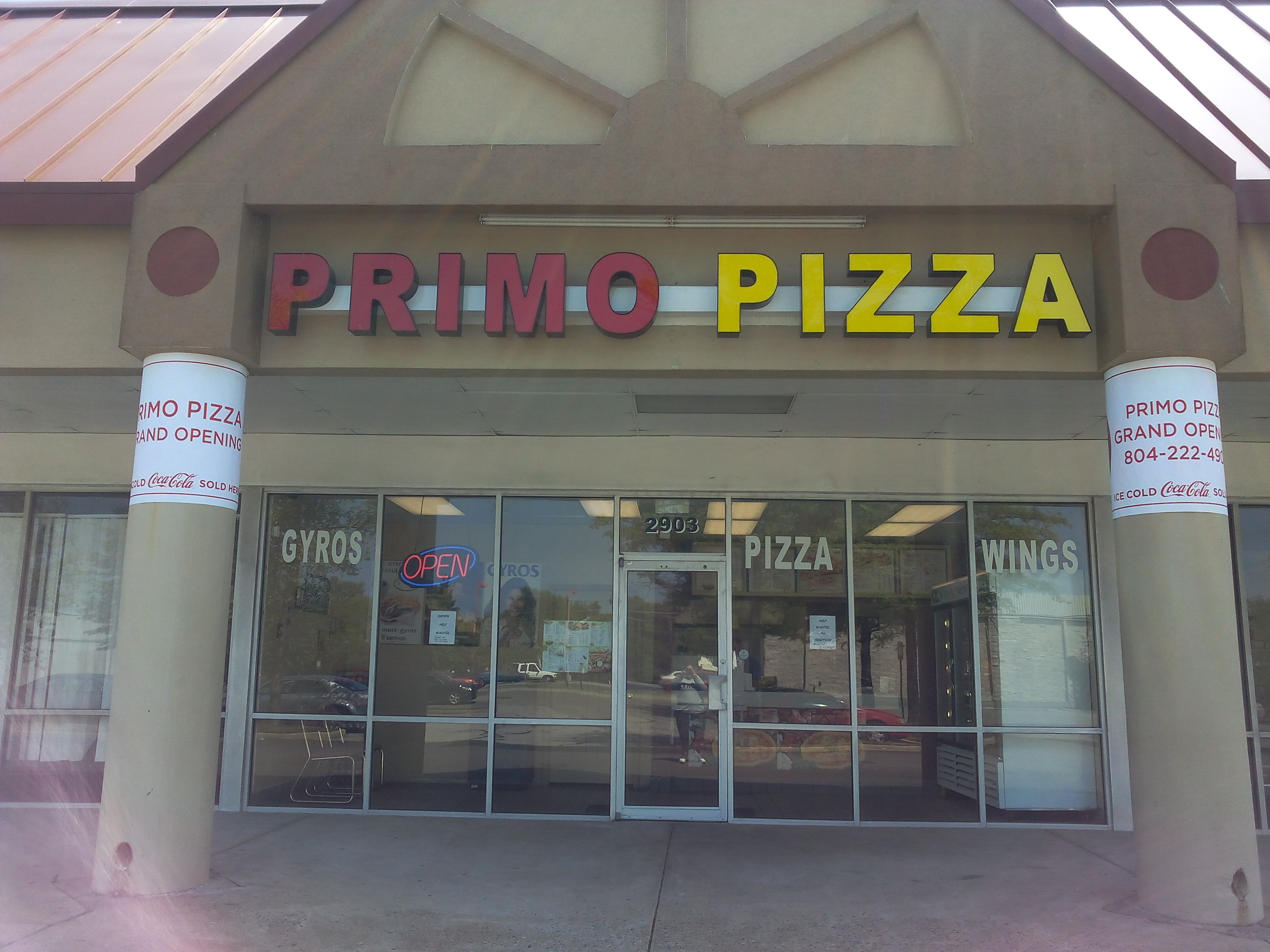 Primo Pizza, Richmond VA