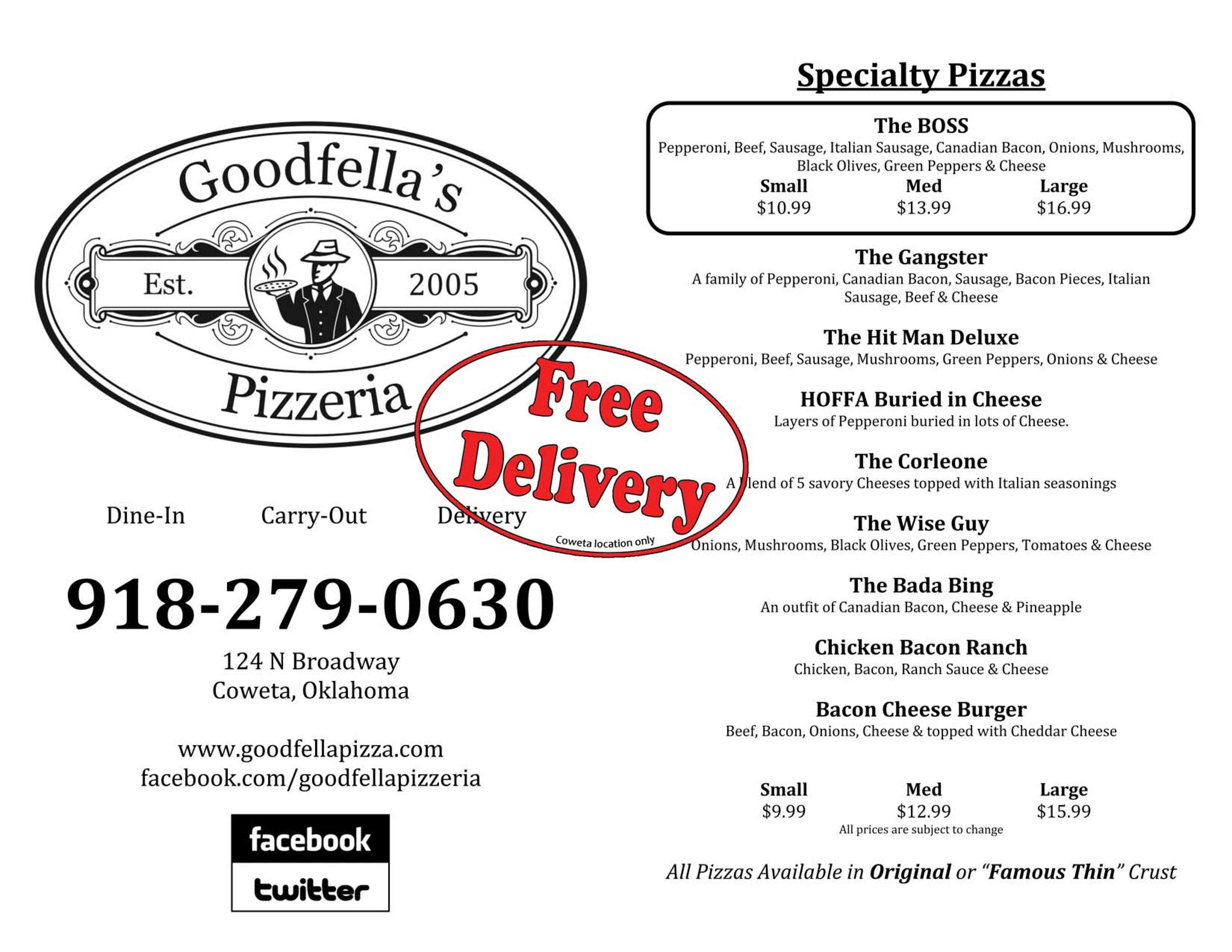 Goodfella's Pizzeria, Coweta OK