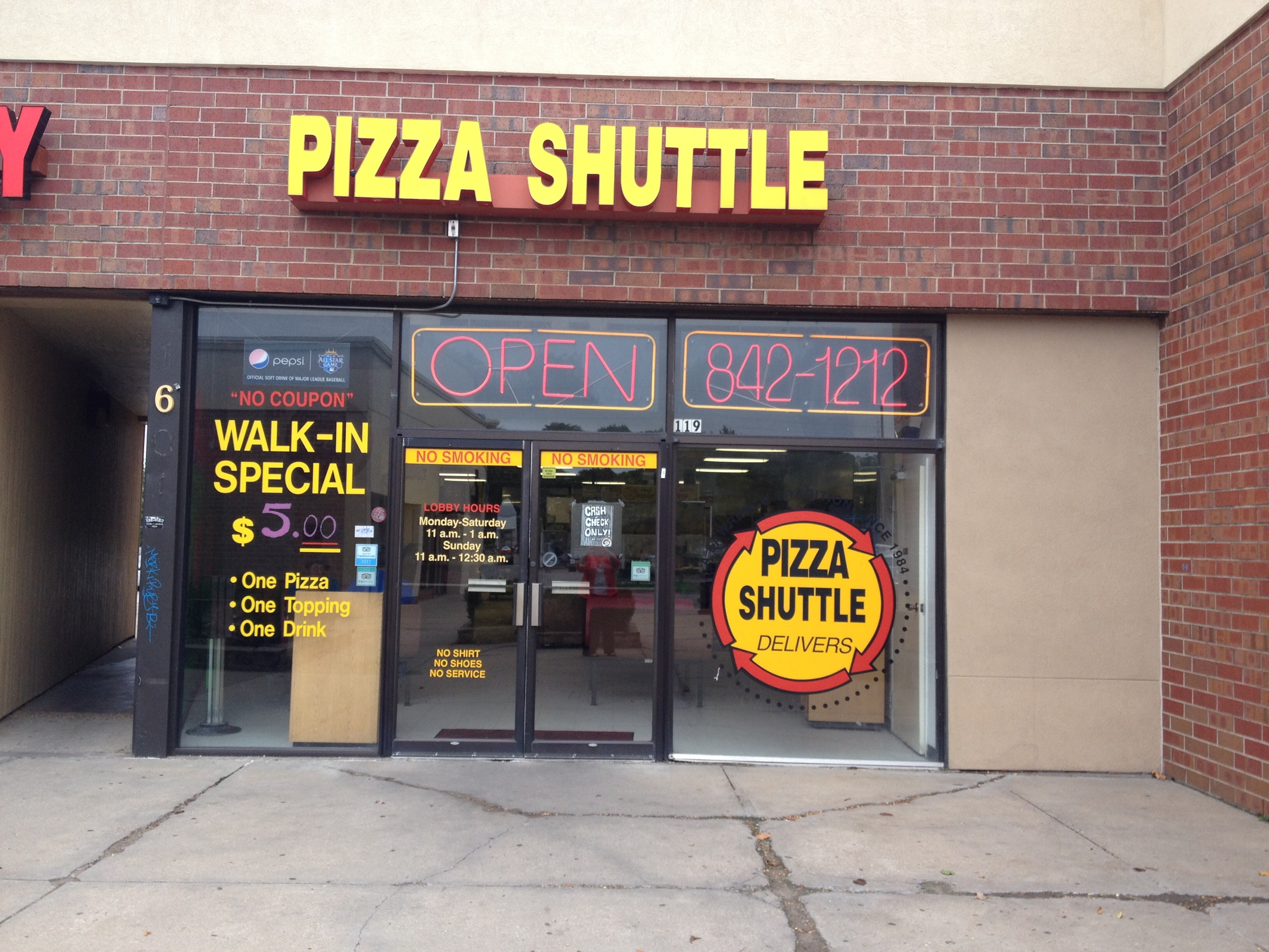 Pizza Shuttle, Lawrence KS