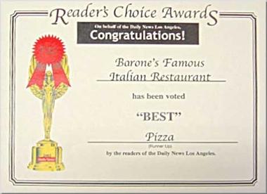 Barone's Famous Italian Restaurant, Van Nuys CA
