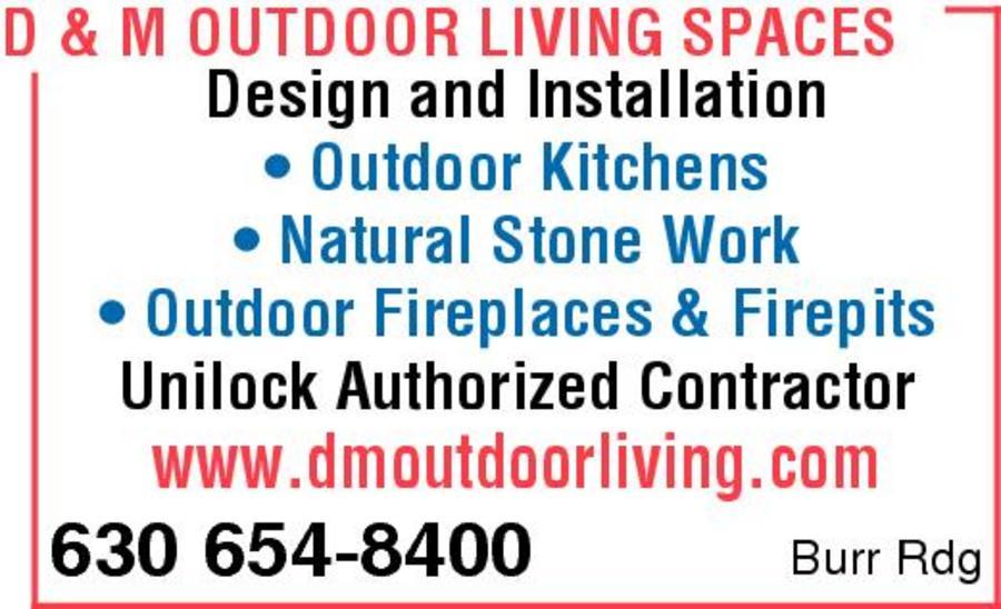 D m outdoor living spaces inc burr ridge il 60527 for Living spaces promo code