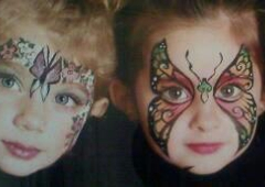 Face Painting - Winchester, VA. butterfly masks.