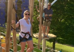 Big Rock Mini Golf And Fun Park - Little Rock, AR. Aerial Adventure High Ropes Course!  Come conquer it!
