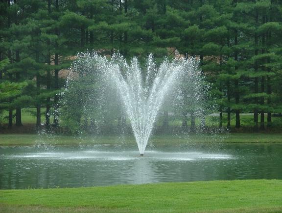 AQUA DOC Lake & Pond Management - Chardon, OH. 2HP Fountain