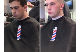 Exactly the haircut he wanted!