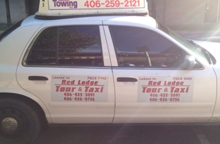 BEWARE RED LODGE TAXI SCAM! DOORS DO NOT OPEN FROM THE INSIDE! CHARGE DOUBLE THE STANDARD FARE!