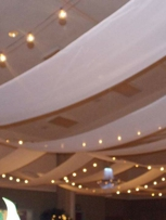 Lighted drapery ceiling