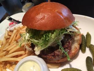 Hamburger at Gaspar Brasserie in San Francisco, CA