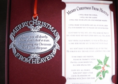 St Anne's Gift Shop Ltd - Orland Park, IL. Merry Christmas From Heaven Memorial Gifts