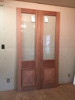 Custom wood custom entry mahogany doors
