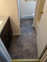 New floor and vanity