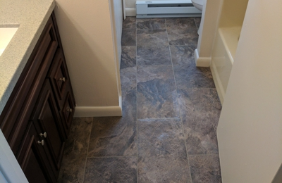 Miller Contracting & Remodeling - Jim Thorpe, PA. New floor and vanity