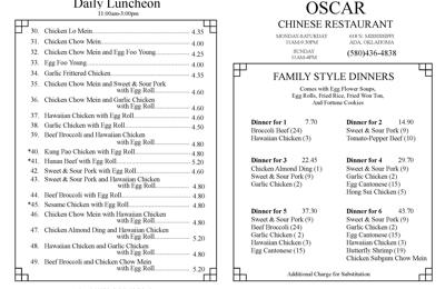 Oscar Chinese Restaurant Ada Ok