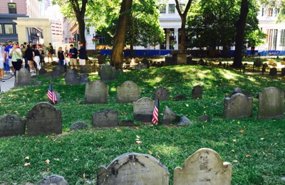Central Burying Ground - Boston, MA. History lesson: Sam Adams & Paul Revere buried here