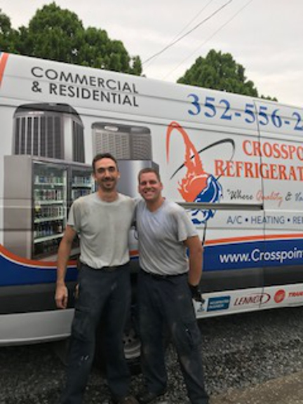 Crosspoint Refrigeration LLC - Brooksville, FL. This was upon completion of air install on a nice WARM August day in Fla. ... great guys !!
