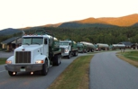 Our fleet of trucks hitting the scenic roads of New Hampshire.