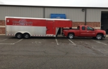 Exterior truck and trailer wash for Oklahoma Textile!