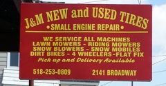 jm used tires and small engine repairs schenectady ny - Small Engine Repair Albany Ny