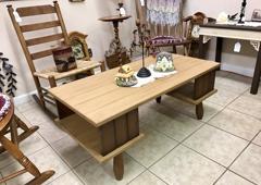 Brown Pastimes Decor Antiques & Collectibles - Front Royal, VA. Antique Table with graham cracker color chalk paint