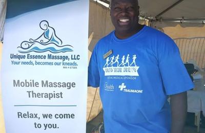 Unique Essence Massage - Jacksonville, FL. Provided Sports massages at the 2020 Gate River Run