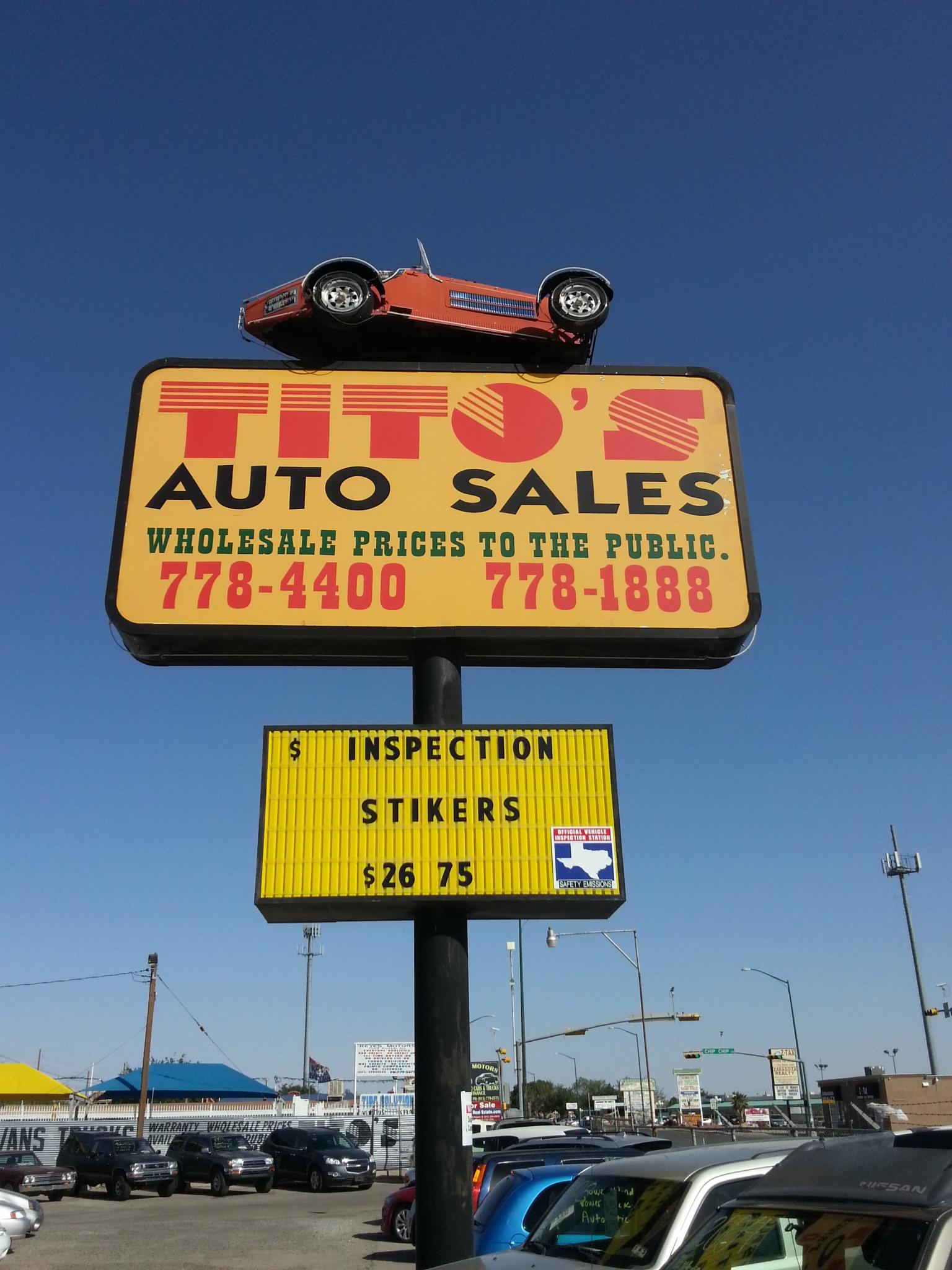 Tito'S Auto Sales >> Tito S Auto Sales 7565 Alameda Ave El Paso Tx 79915 Yp Com