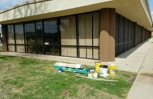 Commercial building painting and columns