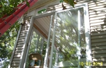 Put in sliding glass doors at the lake Lafayette Home