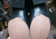 D & L's Leathercrafts & Boots - Kennewick, WA. Half leather soles and heels with out top finish on leather