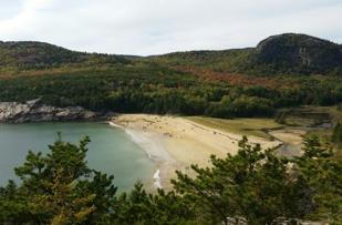 October ocean beach.