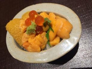 Sushi delicacies at Omakase