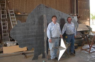 Jones Sonny Heli-Arc Welding Shop & Portable - Abilene, TX. This is the buffalo Sonny made for the entrance to Abilene, TX