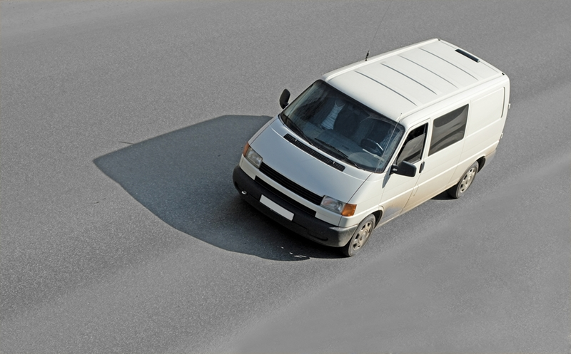 Unmarked vans and trucks could be a sign of scammers.