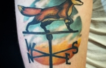 Artwork done by BRENT BARTEL @ Bellaire Tattoo.