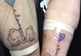 123 East Coast Ink - Easley, SC. Mom and daughter elephant tattoos.