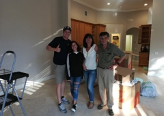 Americas Movers Inc. - Davie, FL. The Luna family with driver George. Stress free moving!
