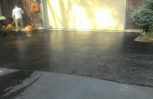 Applying to a driveway with coal tar