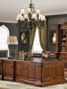orleans international cherry mahogany 2 pc classical french executive desk set